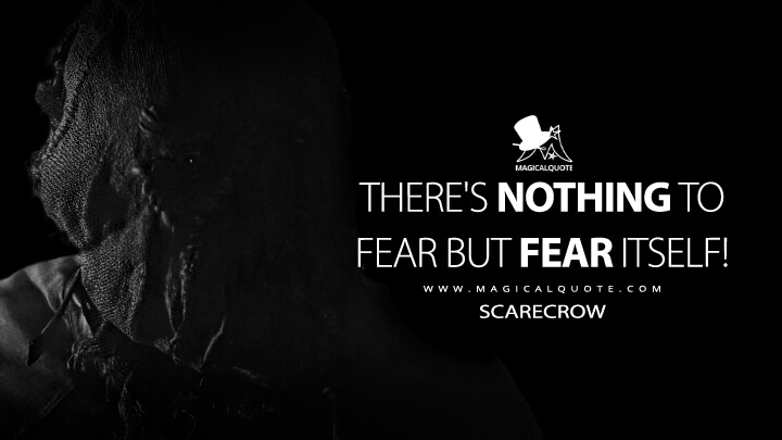 There's nothing to fear but fear itself! - The Scarecrow (Batman Begins Quotes)