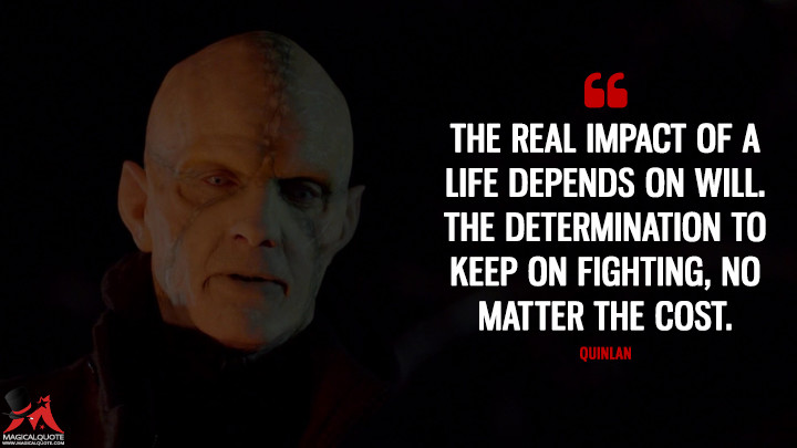Quinlan Season 4 - The real impact of a life depends on will. The determination to keep on fighting, no matter the cost. (The Strain Quotes)