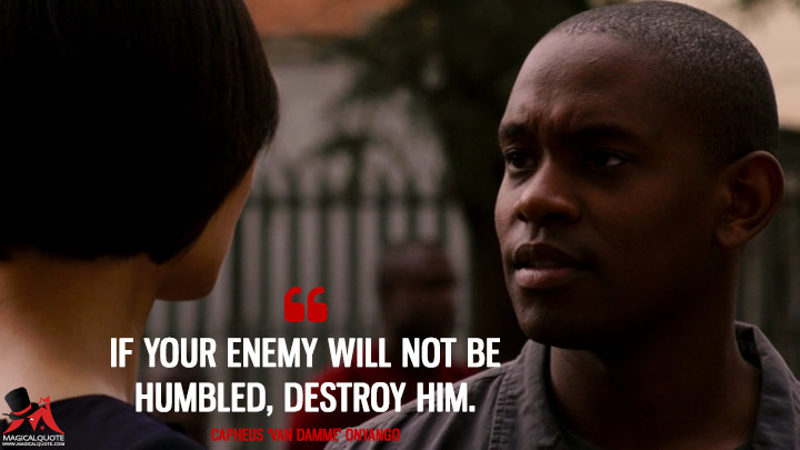 If your enemy will not be humbled, destroy him. - Capheus 'Van Damme' Onyango (Sense8 Quotes)