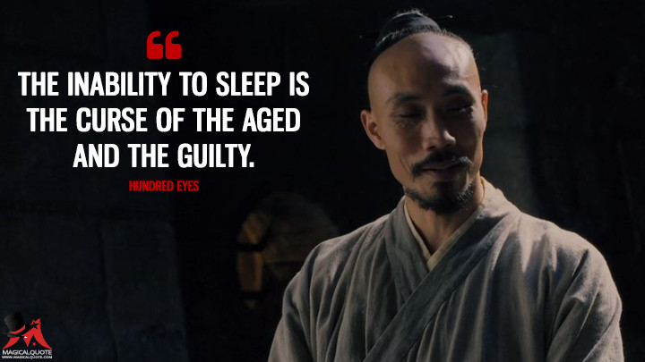 The inability to sleep is the curse of the aged and the guilty. - Hundred Eyes (Marco Polo Quotes)