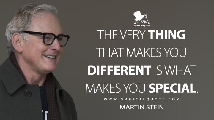 The very thing that makes you different is what makes you special. - Martin Stein (The Flash Quotes)