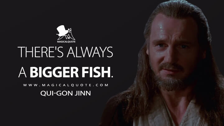 There's always a bigger fish. - Qui-Gon Jinn (Star Wars: Episode I - The Phantom Menace Quotes)