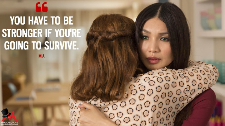 You have to be stronger if you're going to survive. - Mia (Humans Quotes)