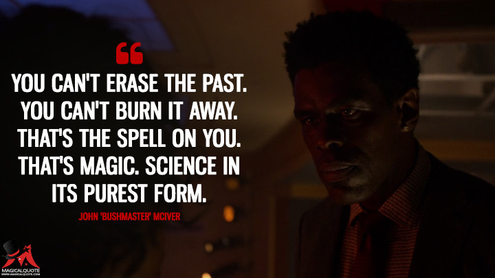 You can't erase the past. You can't burn it away. That's the spell on you. That's magic. Science in its purest form. - John 'Bushmaster' McIver (Luke Cage Quotes)