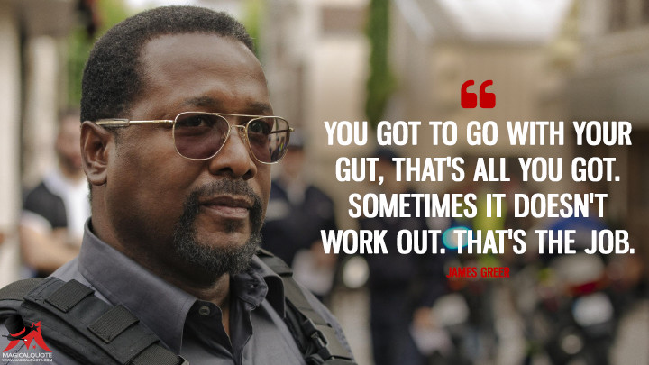 You got to go with your gut, that's all you got. Sometimes it doesn't work out. That's the job. - James Greer (Tom Clancy's Jack Ryan Quotes)