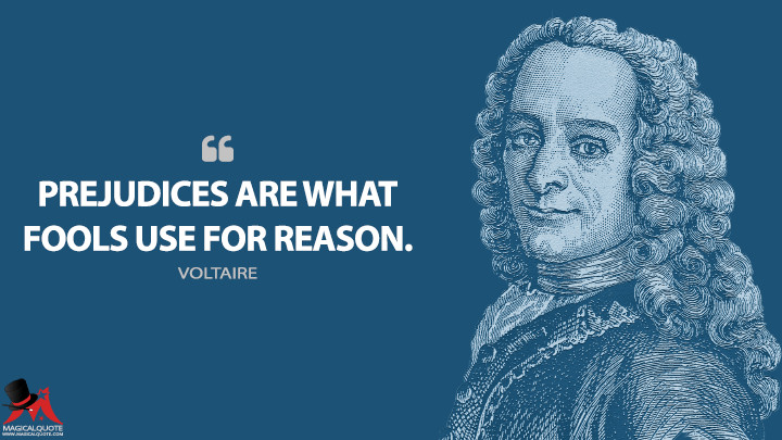 Prejudices are what fools use for reason. - Voltaire Quotes