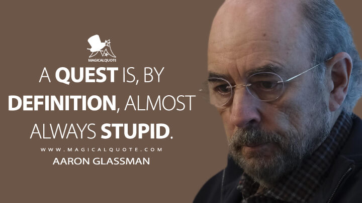 A quest is, by definition, almost always stupid. - Aaron Glassman (The Good Doctor Quotes)