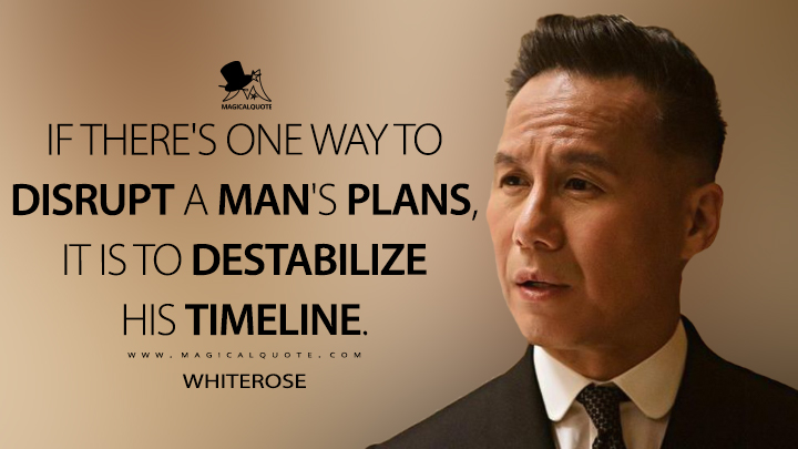 If there's one way to disrupt a man's plans, it is to destabilize his timeline. - Whiterose (Mr. Robot Quotes)
