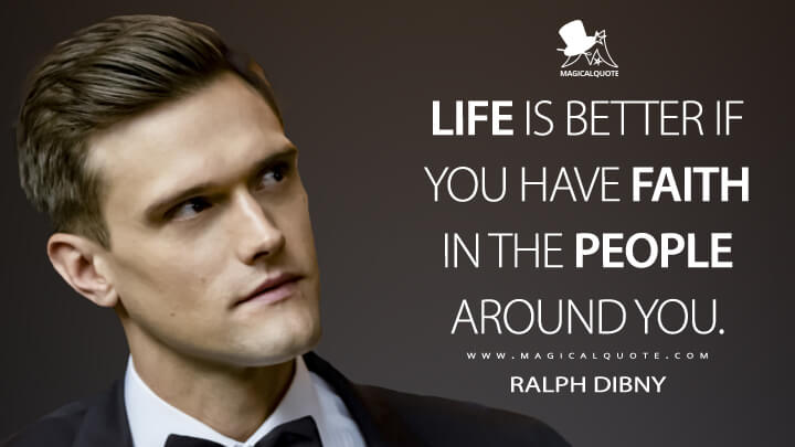 Life is better if you have faith in the people around you. - Ralph Dibny (The Flash Quotes)
