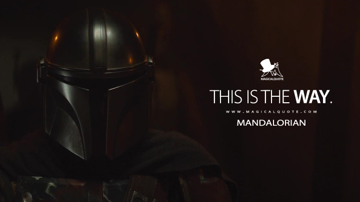 This is the Way. - Mandalorian (The Mandalorian Quotes)