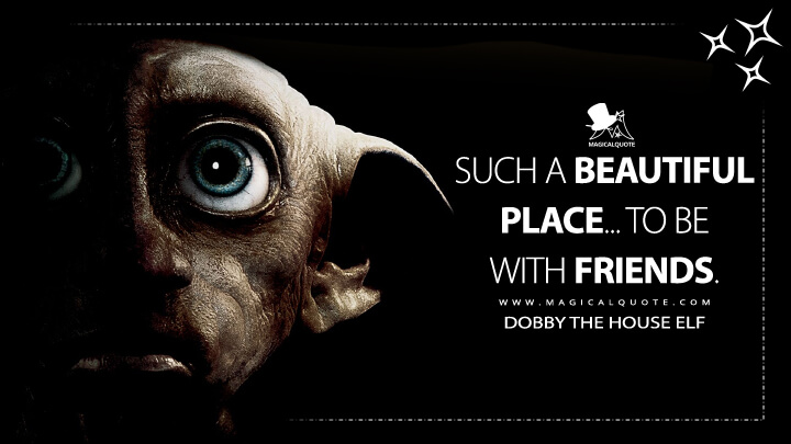 Such a beautiful place... to be with friends. - Dobby the House Elf (Harry Potter and the Deathly Hallows Quotes)
