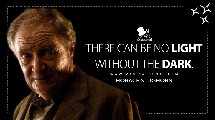 There can be no light without the dark. - Horace Slughorn (Harry Potter and the Half-Blood Prince Quotes)