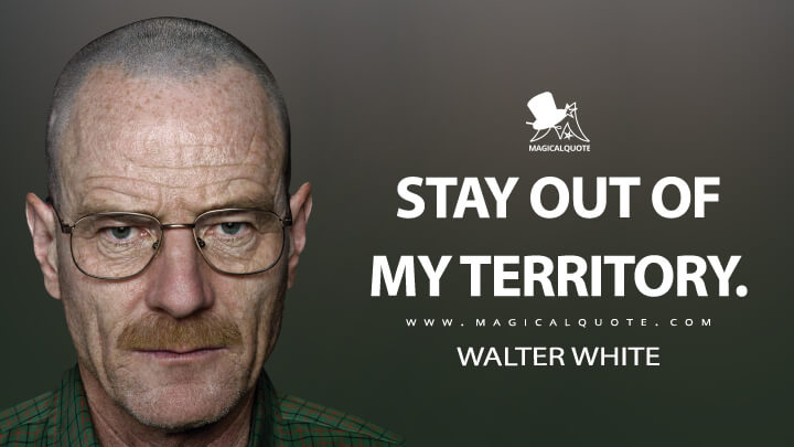 Stay out of my territory. - Walter White (Breaking Bad Quotes)