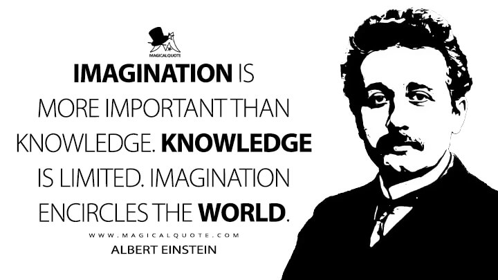 Imagination is more important than knowledge. Knowledge is limited. Imagination encircles the world. - Albert Einstein Quotes
