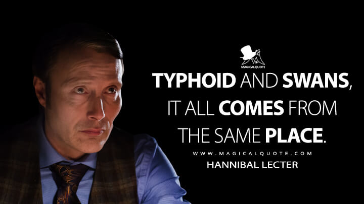 Typhoid and swans, it all comes from the same place. - Hannibal Lecter (Hannibal Quotes)